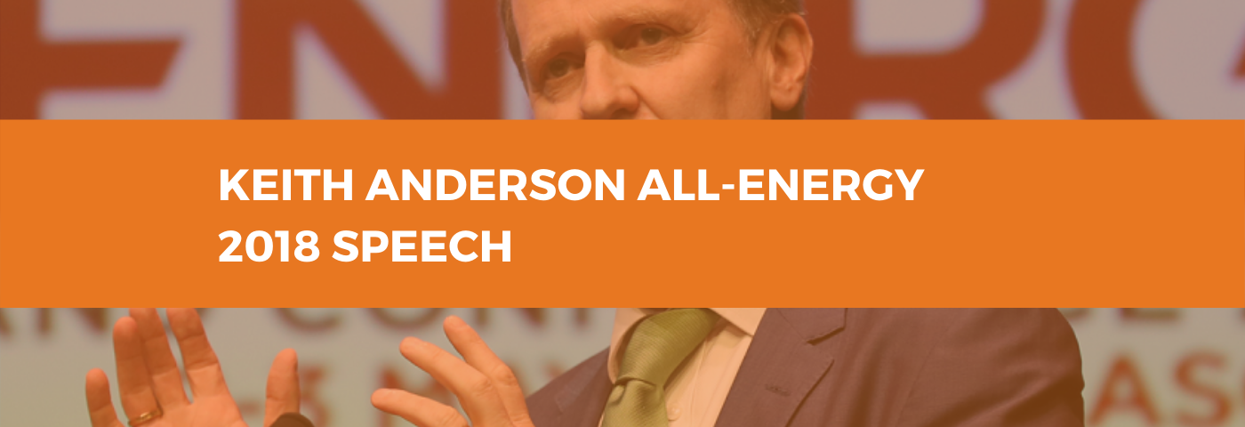 Keith Anderson, CEO, ScottishPower at All-Energy 2018