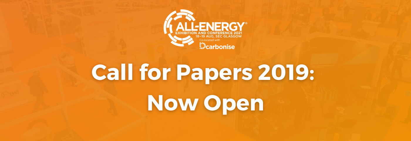 Call for Papers for All-Energy and SUMS 2019 Now Open and Online