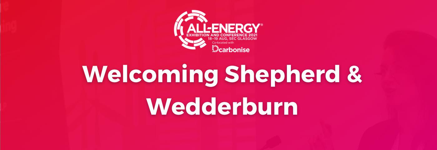 All-Energy Welcomes Shepherd & Wedderburn as Headline Sponsor