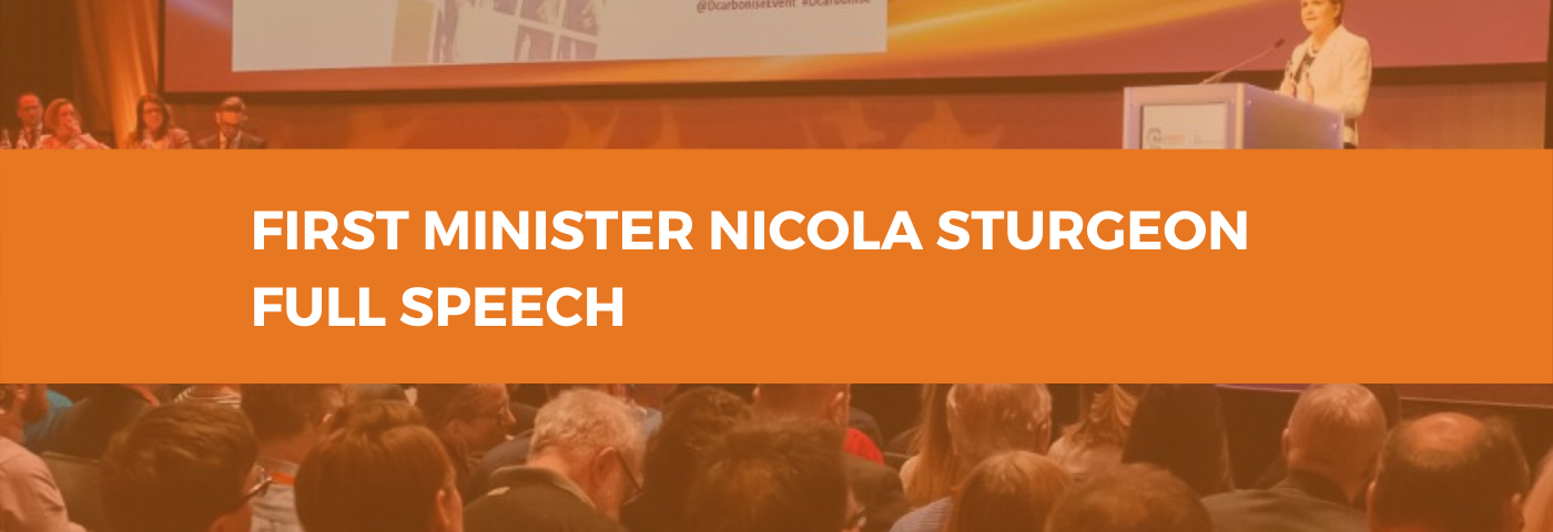 Read the Full First Minister's All-Energy and Dcarbonise 2019 Speech