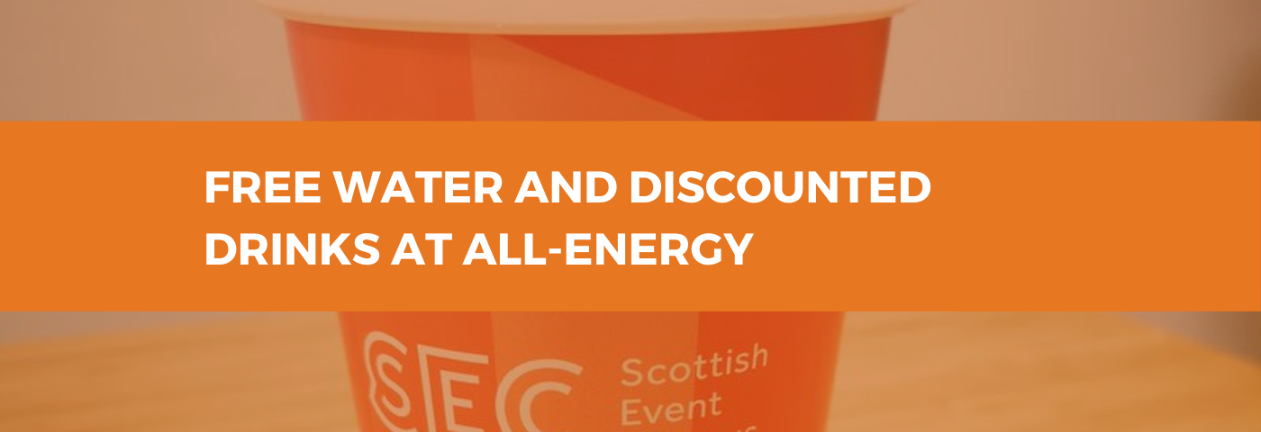 Free water and discounted drinks at All-Energy