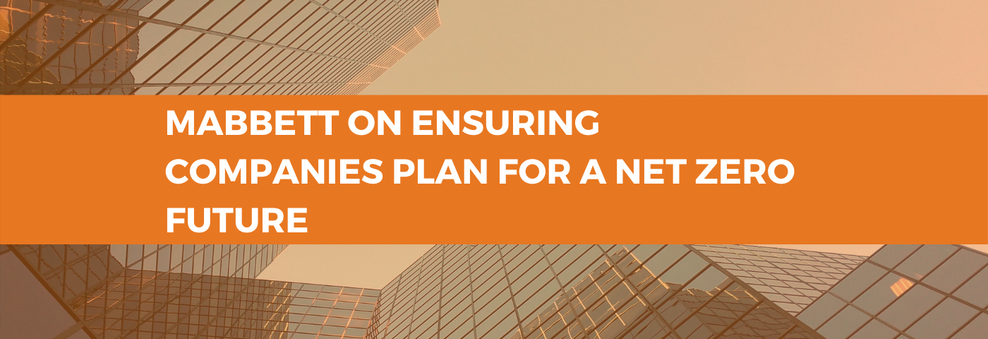 Mabbett on ensuring companies plan for a net zero future