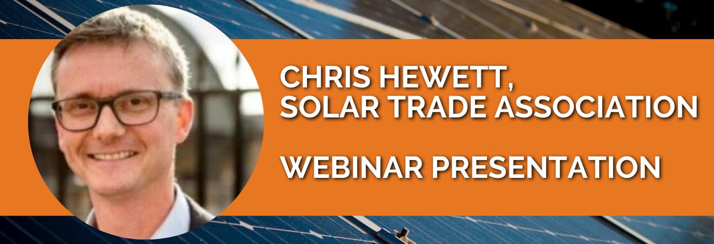 Chris Hewett: Solar UK Vision 2030