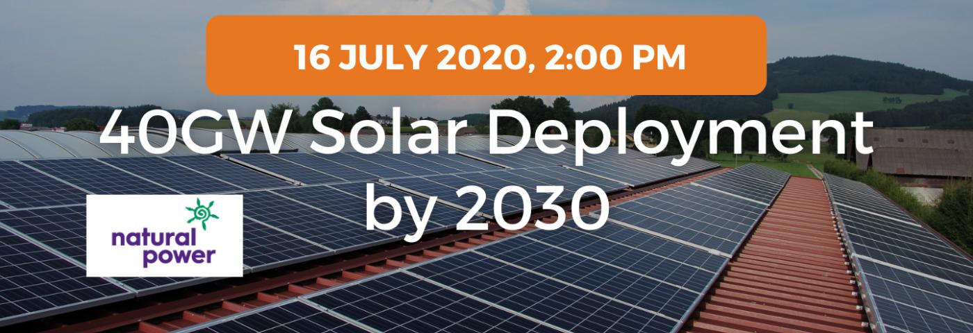 40GW solar deployment by 2030