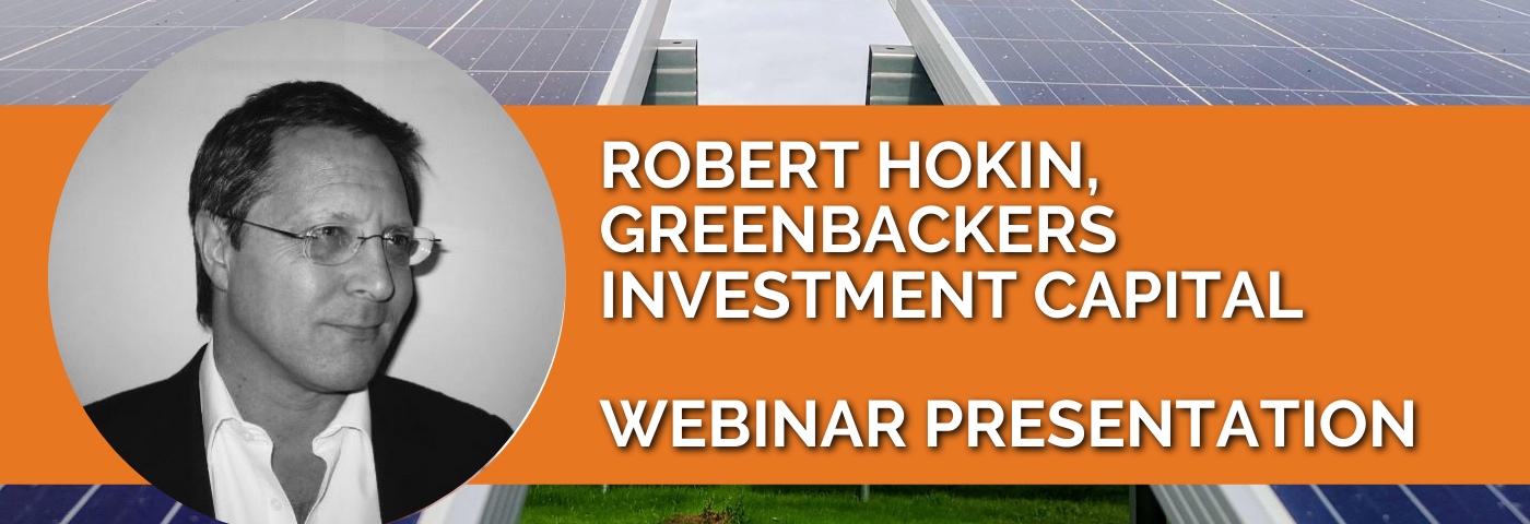 Robert Hokin: Capital for climate business growth