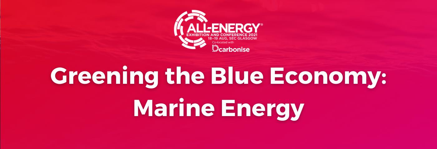 Marine Energy Webinar Special 14 October
