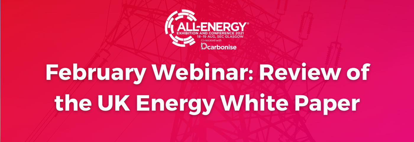 Review of The UK Energy White Paper: The next All-Energy/Dcarbonise Webinar